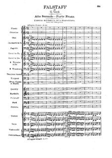 Falstaff: Ato II by Giuseppe Verdi
