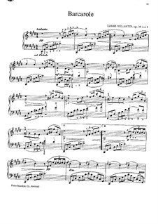 Barcarole in C Sharp Minor, Op.59 No.1: Para Piano by Erkki Melartin