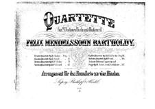 String Quartet No.2 in A Major, Op.13: versão para piano de quatro mãos by Felix Mendelssohn-Bartholdy