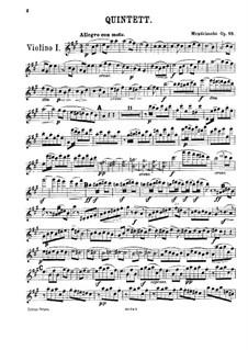 String Quintet No.1 in A Major, Op.18: violino parte I by Felix Mendelssohn-Bartholdy