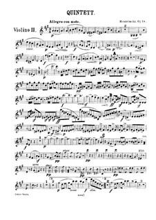 String Quintet No.1 in A Major, Op.18: violino parte II by Felix Mendelssohn-Bartholdy