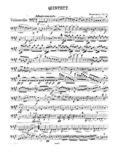 String Quintet No.1 in A Major, Op.18: parte violoncelo by Felix Mendelssohn-Bartholdy