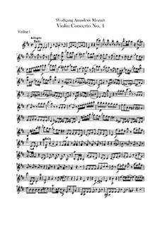 Concerto for Violin and Orchestra No.4 in D Major, K.218: parte violinos by Wolfgang Amadeus Mozart