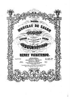 Six Salon Pieces, Op.22: No.2 Air varié by Henri Vieuxtemps