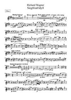 Siegfried Idyll, WWV 103: parte Oboe by Richard Wagner