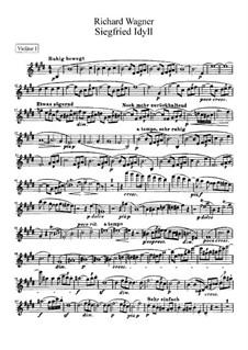 Siegfried Idyll, WWV 103: violinos parte I by Richard Wagner