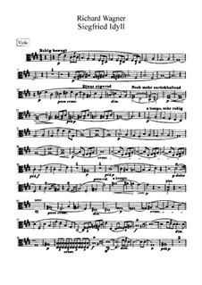 Siegfried Idyll, WWV 103: parte violas by Richard Wagner