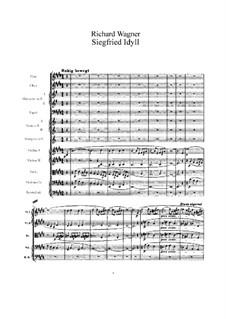 Siegfried Idyll, WWV 103: Partitura completa by Richard Wagner