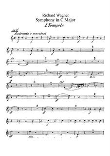 Symphony in C Major, WWV 29: parte trompetas by Richard Wagner