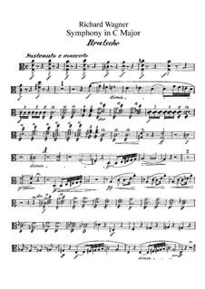 Symphony in C Major, WWV 29: parte violas by Richard Wagner