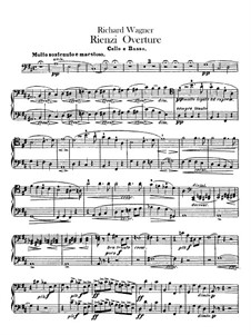Rienzi, the Last of the Tribunes, WWV 49: Overture – cellos and double bass part by Richard Wagner