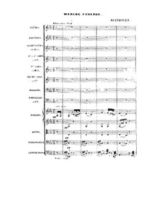 Marche Funebre (Funeral March): partitura completa by Ludwig van Beethoven