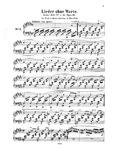 Songs without Words, Op.19b: set completo by Felix Mendelssohn-Bartholdy