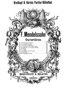 The Fair Melusina, Op.32: abertura by Felix Mendelssohn-Bartholdy