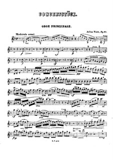 Concert Piece for Winds and Piano (or Orchestra), Op.41: parte Oboe by Julius Rietz