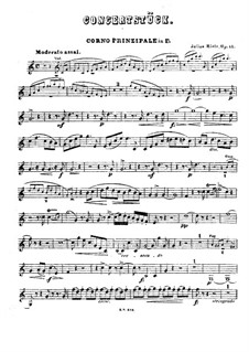 Concert Piece for Winds and Piano (or Orchestra), Op.41: parte trompa by Julius Rietz