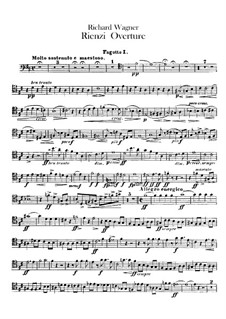 Rienzi, the Last of the Tribunes, WWV 49: Overture – bassoons and serpent parts by Richard Wagner
