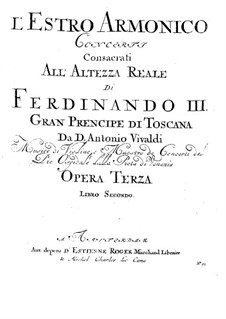 Concerto for Two Violins, Cello and Strings No.11 in D Minor, RV 565: viola parte I by Antonio Vivaldi