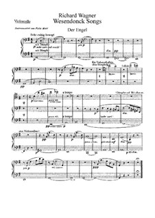 Wesendonck Songs, WWV 91: For voice and orchestra – cellos part by Richard Wagner