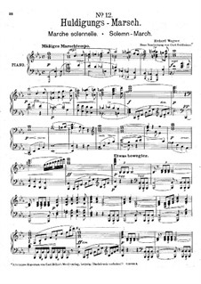 Homage March, WWV 97: Para Piano by Richard Wagner