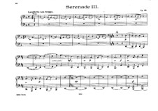 Serenade for String Orchestra No.3, Op.69: para piano de quadro mãos by Robert Volkmann