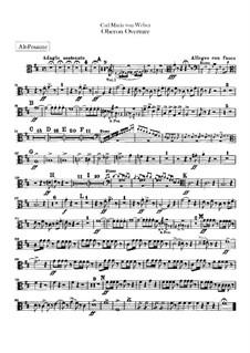Overture: parte trombones by Carl Maria von Weber