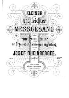 Missa Puerorum for Voice and Organ, Op.62: Missa Puerorum for Voice and Organ by Josef Gabriel Rheinberger