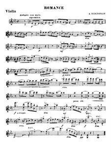 Romance in E Flat Major: para violino by Anton Rubinstein
