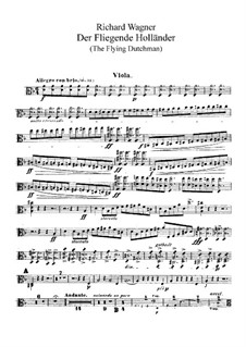 Complete Opera: parte violas by Richard Wagner