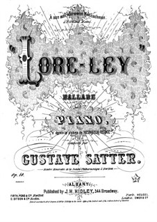 Loreley. Ballade for Piano, Op.10: Loreley. Ballade for Piano by Gustave Satter