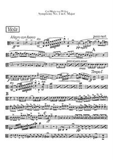 Symphony No.1 in C Major, J.50 Op.19: parte violas by Carl Maria von Weber