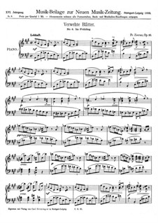 Verwehte Blätter, Op.10: Nr.4 Im Frühling by Fritz Zierau