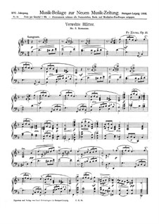 Verwehte Blätter, Op.10: No.5 romantica by Fritz Zierau