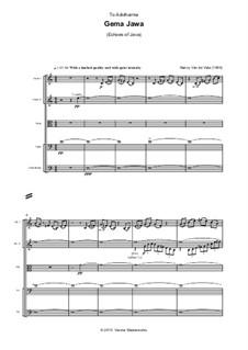Gema Jawa (Echoes of Java): todas as partes e partituras by Nancy Van de Vate