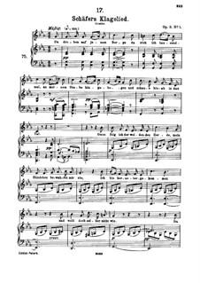 Shepherd's Lament, D.121 Op.3 No.1: Partitura piano-vocal by Franz Schubert