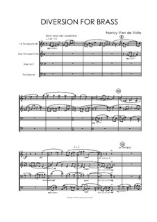 Diversion for Brass: partitura completa by Nancy Van de Vate