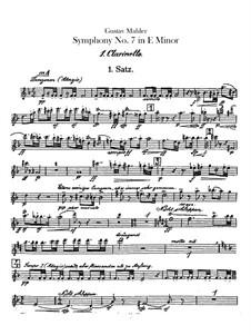 Symphony No.7 in E Minor: clarinetas parte I-II by Gustav Mahler