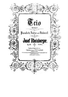 Piano Trio No.4 in F Major, Op.191: todas as partes e partituras by Josef Gabriel Rheinberger