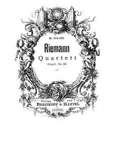 String Quartet in G Minor, Op.26: quarteto de cordas em G menor by Hugo Riemann