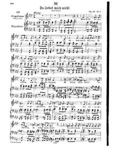 Du liebst mich nicht (You do Not Love Me), D.756 Op.59 No.1: Partitura piano-vocal by Franz Schubert