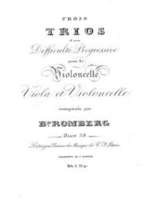 Three String Trios, Op.38: três trios de cordas by Bernhard Romberg