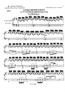 No.1 Liebesbotschaft (Message of Love): For harmonium and piano – piano part by Franz Schubert
