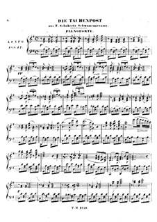 No.14 Die Taubenpost (The Pigeon Post): For harmonium and piano – piano part by Franz Schubert