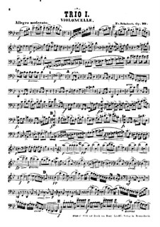 Piano Trio No.1 in B Flat Major, D.898 Op.99: parte violoncelo by Franz Schubert