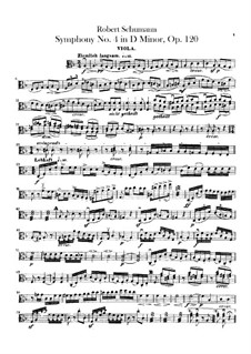Symphony No.4 in D Minor, Op.120: parte viola by Robert Schumann