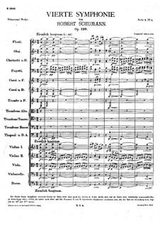 Symphony No.4 in D Minor, Op.120: movimento I by Robert Schumann