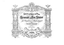 Fragments: versão para piano de quatro mãos by Franz Schubert