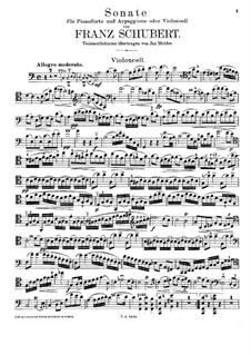 Sonata for Arpeggione (or Cello) and Piano in A Minor, D.821: Parte de solo by Franz Schubert