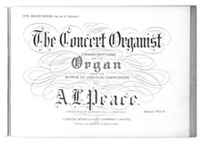 Rondo for Piano Four Hands in A Major, D.951 Op.107: Arrangement for organ by Franz Schubert