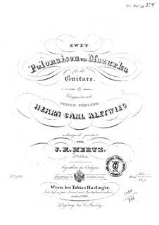 Two Polonaises and Two Mazurkas: Para Guitarra by Johann Kaspar Mertz